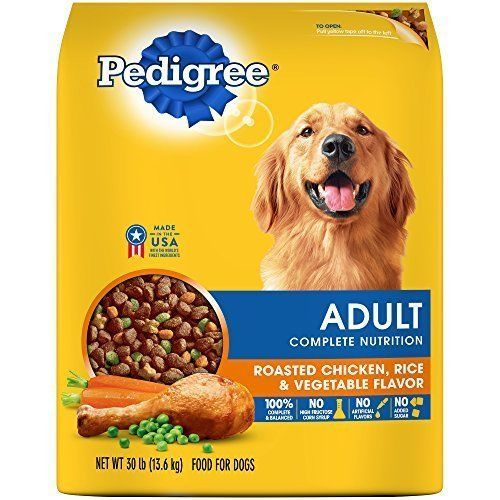 Adult Dry Dog Food Complete Nutrition Formula Roasted Chicken Rice Delicious  #Pedigree