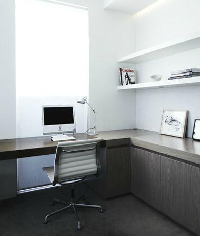 Wrap around desk w/ storage underneath