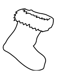 stocking printable coloring page