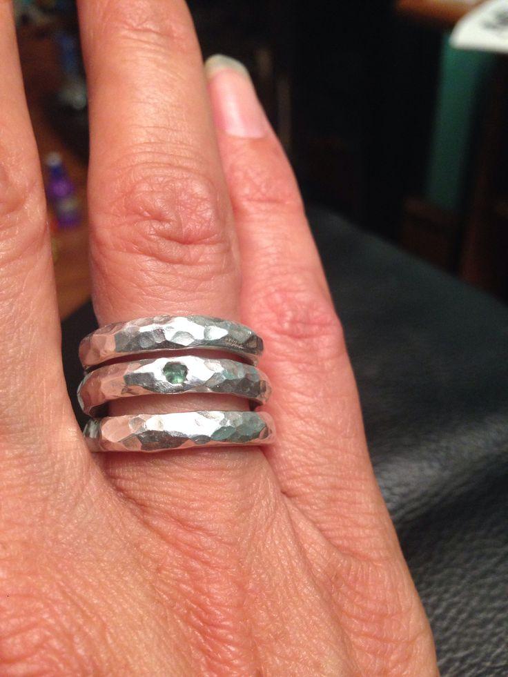 Rings custom made by Anna Parliana Tilos Greece