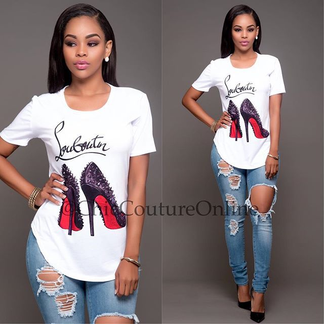 Simple and Chic❤️ www.ChicCoutureOnline.com Search: Tee: Red Bottoms Jeans: Avena #fashion #style #stylish #love #ootd #me #cute #photooftheday #nails #hair #beauty #beautiful #instagood #instafashion #pretty #girly #pink #girl #girls #eyes #model #dress #skirt #shoes #heels #styles #outfit #purse #jewelry #shopping