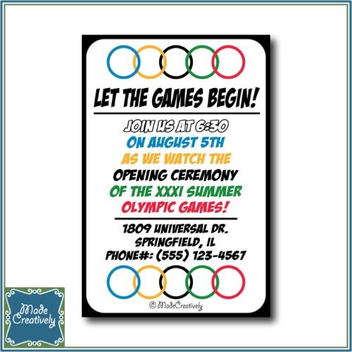 Digital Olympic Games Invite– As the world comes together to watch the exciting moments of the Olympics, so do you and your friends for the many events of the games! Send them this creative invite to have them join you in cheering on the athletes of the Olympic Games at your upcoming Olympic party.