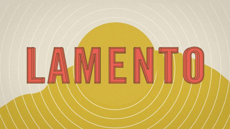 LAMENTO. Music : John Talabot - Lamento  Un lamento est un morceau de musique à caractère plaintif. De même, on parle de lamento tragique po...