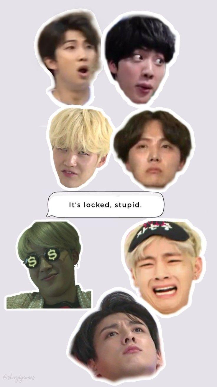 N I C O L E Ayeitsnicoleee Memes Bts Wallpaper Bts Boys Bts cute memes wallpaper