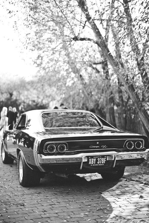 1968 dodge charger. This is a car to drive away from our wedding in.