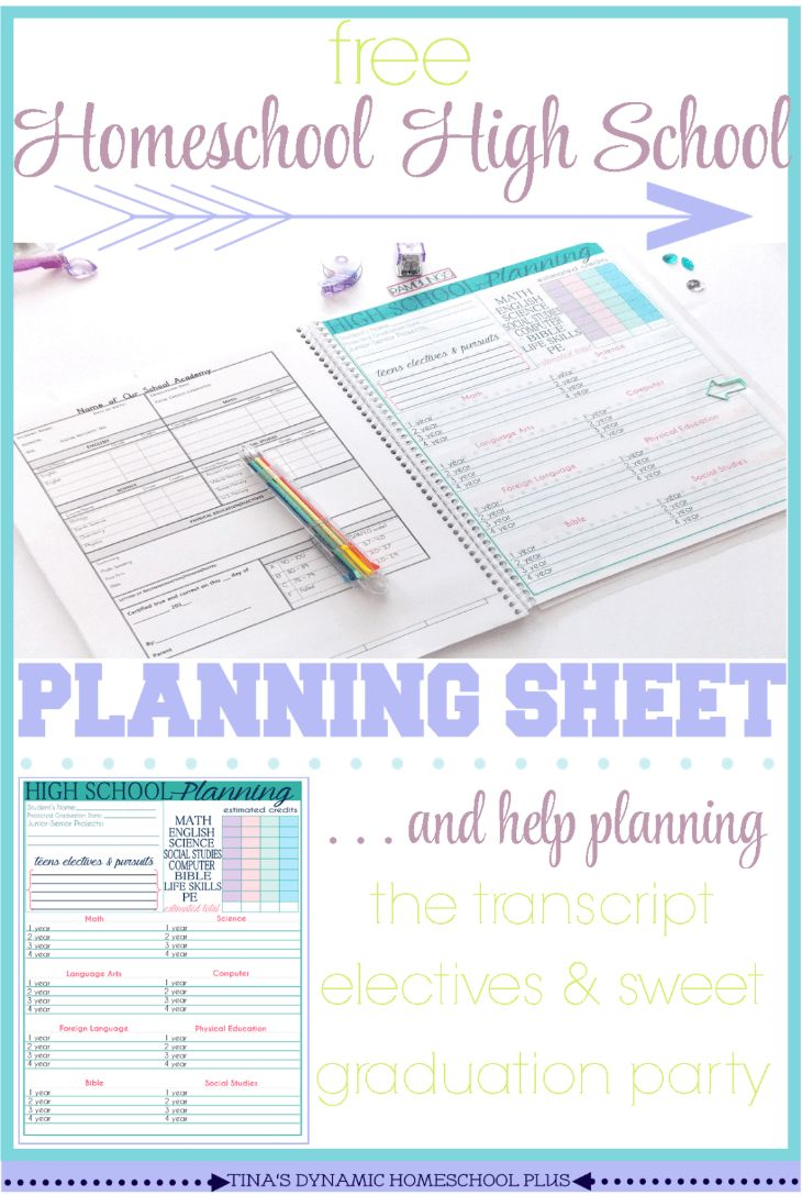 Free Homeschool High School Planning Sheet (and pssst help for high school too)