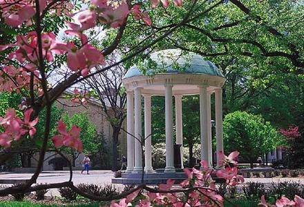 "If you are at Carolina you have to make sure you see the ""Old Well"" on campus.  This is at the heart of the UNC-CH campus."