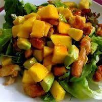 Ensalada de Pollo con Mango y Aguacate