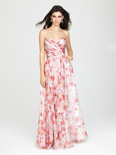 Allure Bridals: Style: 1436 Wedding 2015>Floral>Bridesmaid>Floral Print