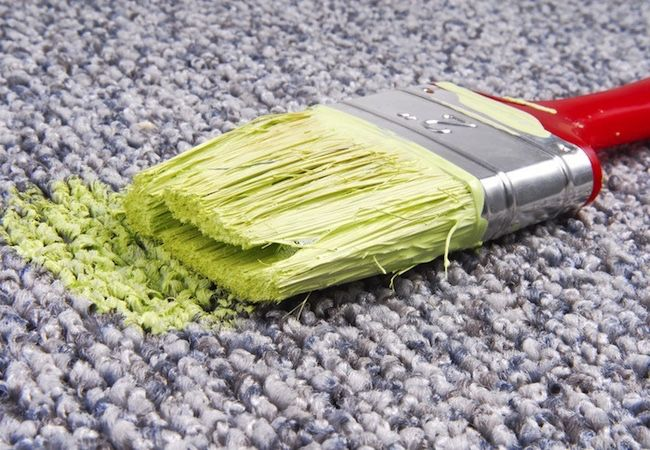 How to (try to) remove paint from carpet. Might not work, but worth trying before shopping for new carpet.