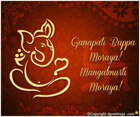 Dgreetings    Wish everybody on the festival of Ganesh Chaturthi...