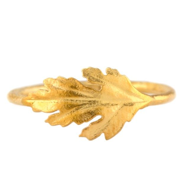Chrysanthemum Leaf Ring by Alex Moore, 120 Pfund
