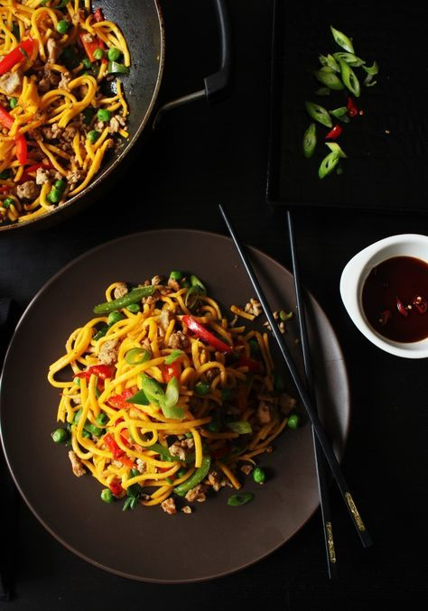 Curried Chicken Noodles #recipe