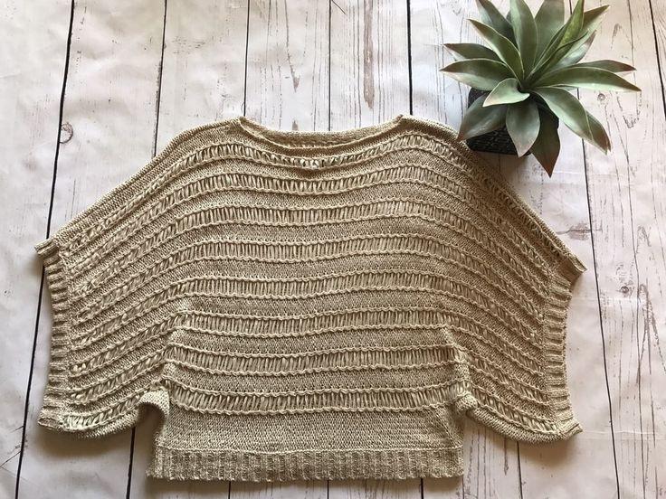 Boston Proper Women's Crochet batwing Top Size M/L #BostonProper #Crochet #Career