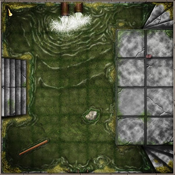 Dungeon Tiles Sewers by SaintJG.deviantart.com on @DeviantArt