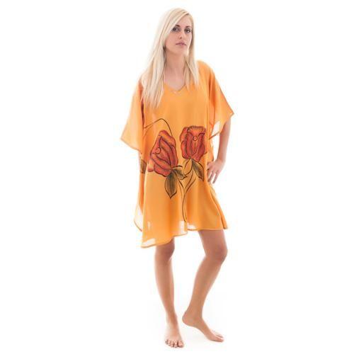 Καφτάνι Κοντό Γυναικείο Senza Orange - BeMine.gr