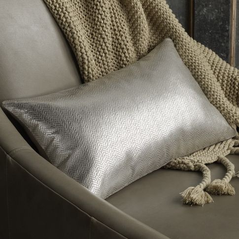 Frosted Foil Pillow Cover | west elm