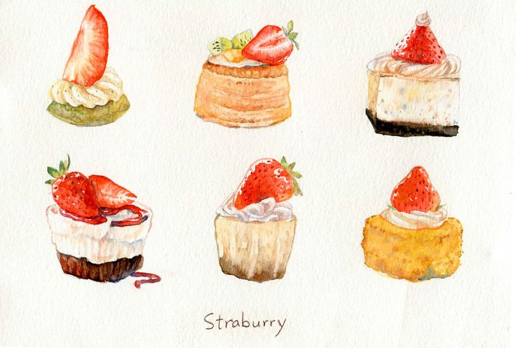 ∗ Sweet Life ∗ watercolor food