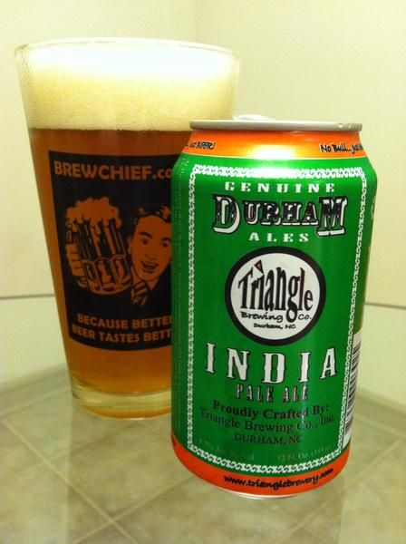 BrewChief.com Review of Triangle IPA (Triangle Brewing Co.) : Some beer fans are fortunate to live in an area that harbors a multitude of quality breweries. Living in Durham, NC, I am one of these fans. It seems that every decent bar has some sort of local brewing representation. Drinking these tasty beers is an important part of supporting your local community, plus it helps to establish a comradely between brewers and their fans. One of my favorite local breweries goes by the name of...