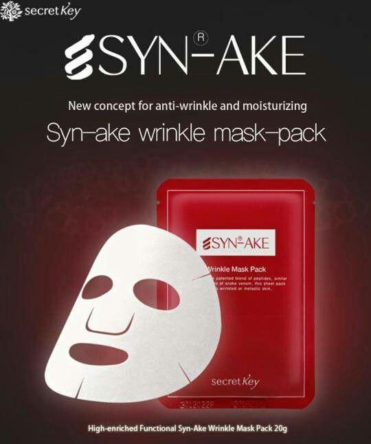 SecretKey Secret Key Synake Wrinkle & Whitening Mask Pack idr 18.000  berat 20gram (essence-nya banyak sekali)  SMS/WA 085721615358  www.facebook.com/omonicorner    Fungsi Produk :  Kaya akan nutrisi sehingga dapat memberikan kelembapan terus menerus  Mengandung synake yang dapat memperbaiki kondisi kulit.  Mencerahkan wajah dengan mencegah pembentukan pigmen melanin.  Mengurangi kerutan diwajah.  Mencerahkan rona wajah dan memiliki efek menenangkan kulit.  Mengandung aloe yang memiliki efek…