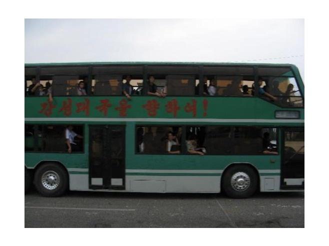 North Korea transportation has a lot of public buses