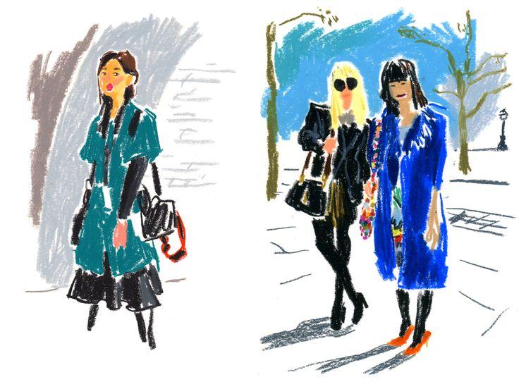 London Fashion Week for T Magazine : damienflorebertcuypers.com lovin that blue
