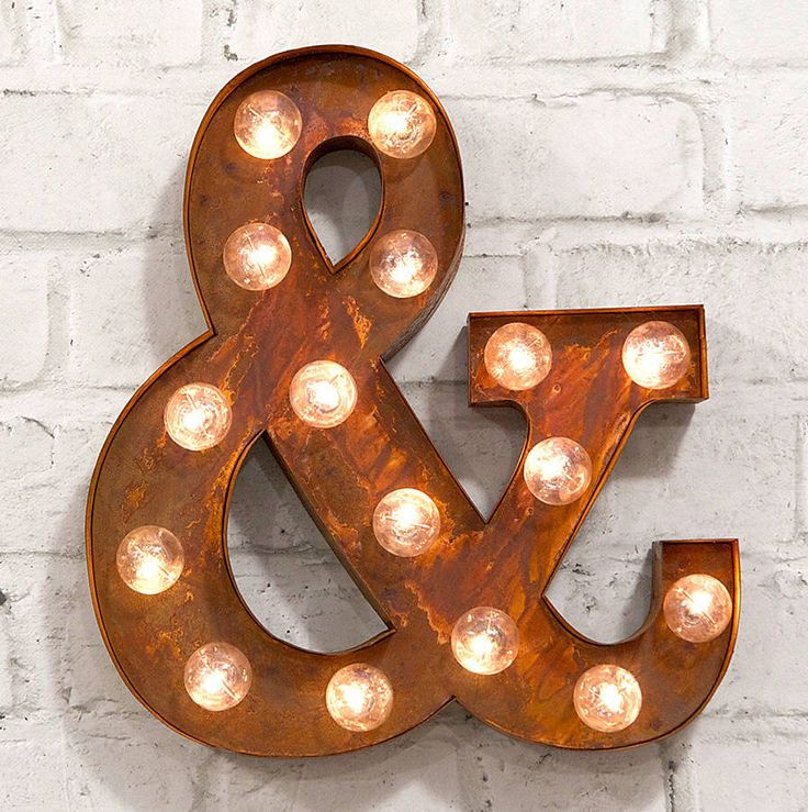 '&' led carnival light by rocket & rye | notonthehighstreet.com