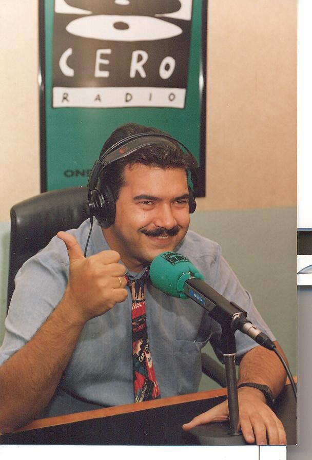 Juan Antonio Cebrián en La Rosa de los vientos durante la temporada 1996-1997.