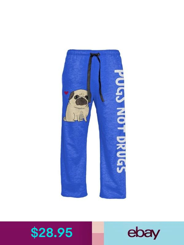 Adult Cute Dog Meme Gemma Correll Pugs Not Drugs Heather Blue Lounge Pants