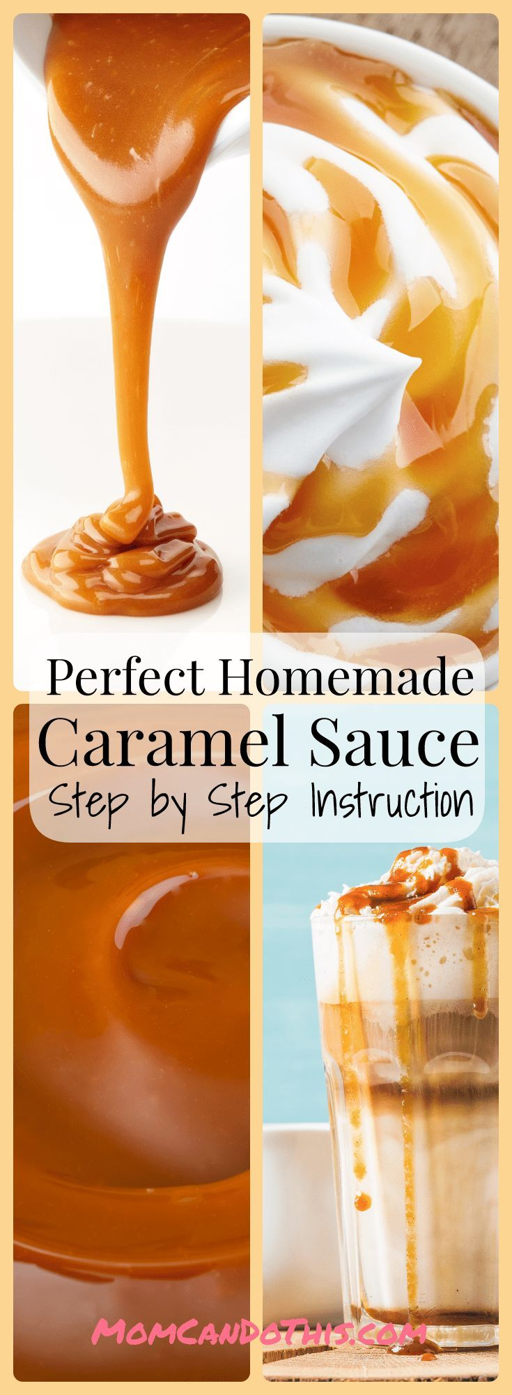 Detailed Step-by-Step Instructions to make perfect Caramel Sauce from scratch. The best Caramel drizzle sauce I've ever made and super frugal, too. Learn how to make this caramel sauce at home!