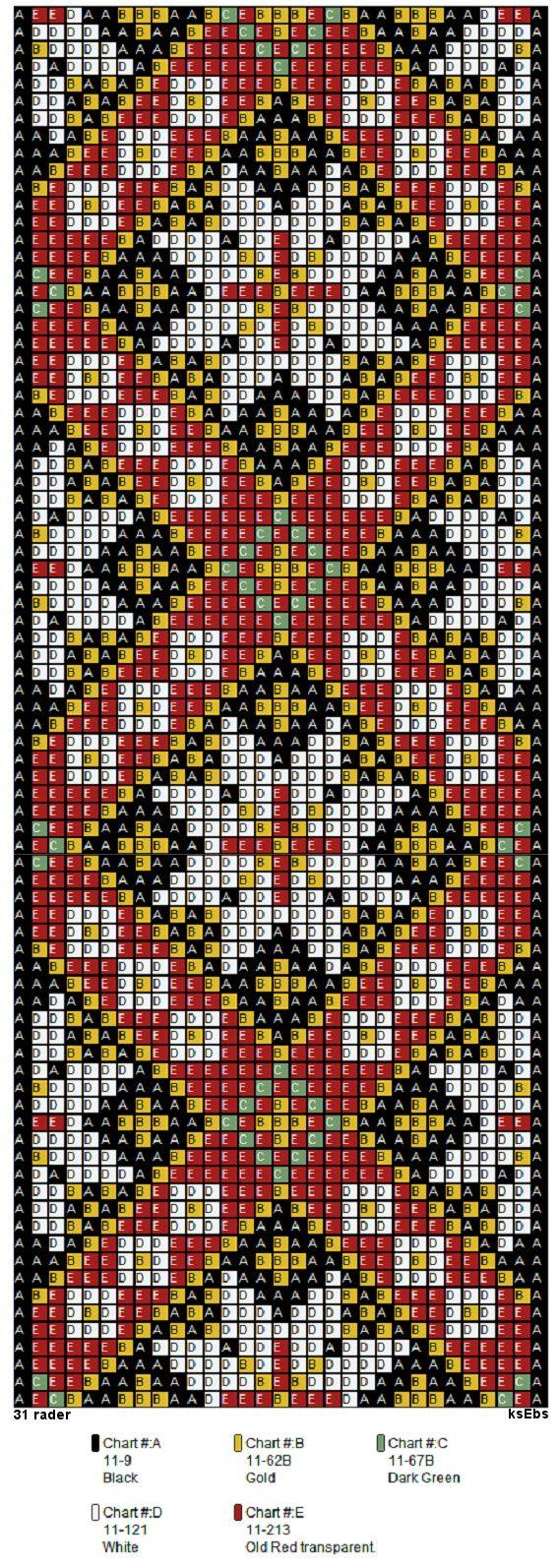 Bunad, Smykker, vev & rosemaling: Mønster til nytt perlebelte og bringeduk,