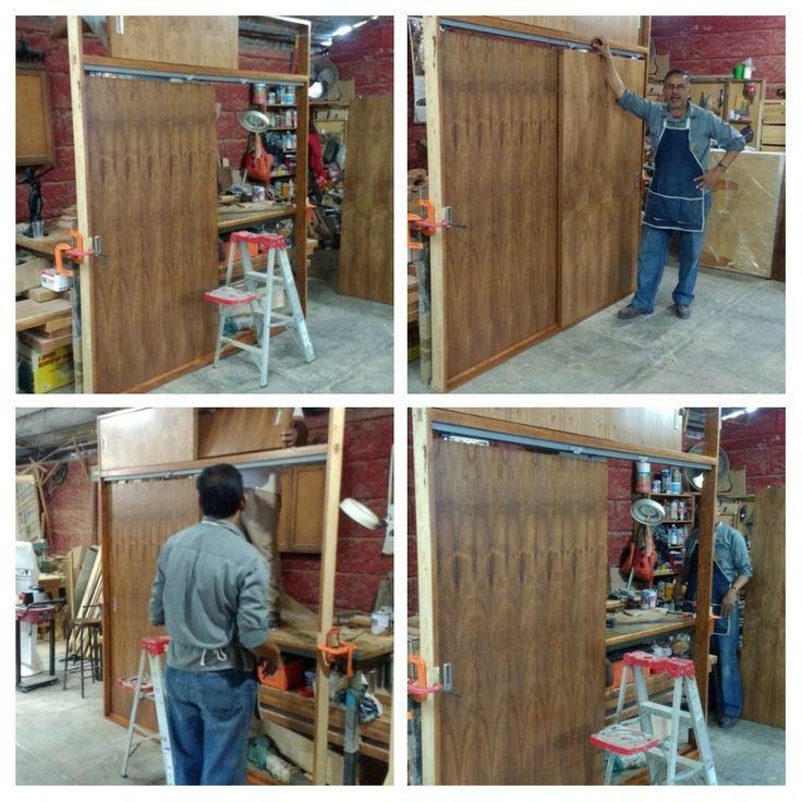 closet puertas corrediza, acabado natural madera Tzalam
