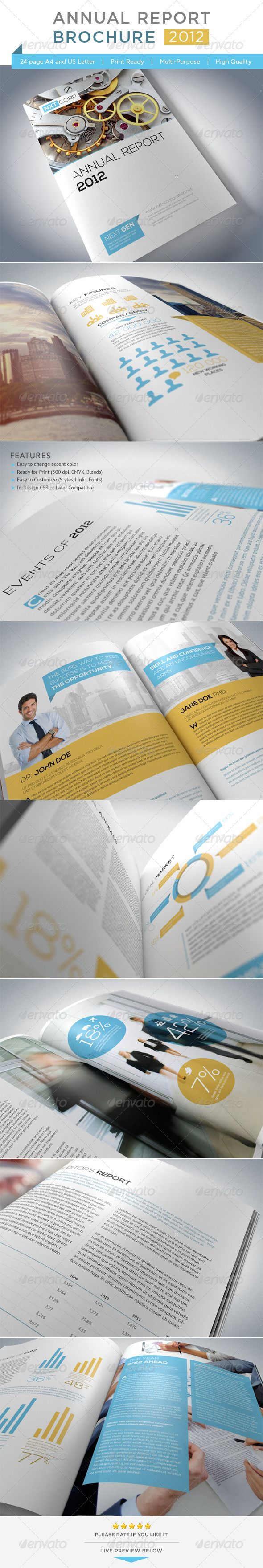 Annual Report Brochure - GraphicRiver Item for Sale