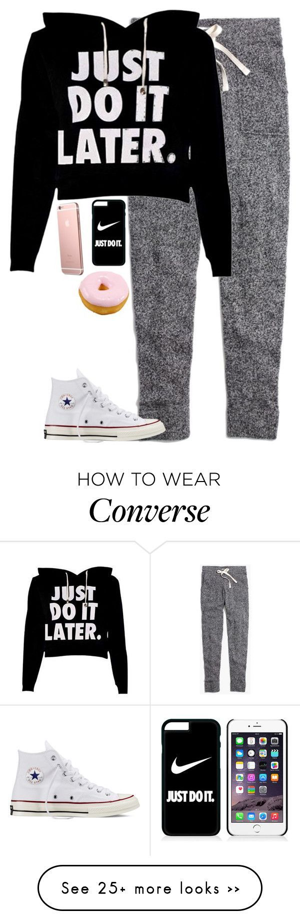 """Man just do it later"" by hagor423 on Polyvore featuring moda, Madewell, NIKE e Converse"