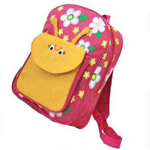 Kids Backpack Girls Pink Pre School Bag Cute Flowers Yellow Bee Zipper Rucksack #KidsBackpackGirlsPink #Backpack
