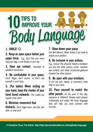 10 Tips To Improve Your Body Language [Manifesto] -- [Self-improvement] [Communication] [Awareness]