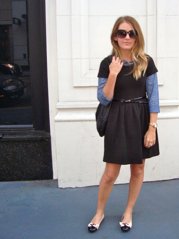 chambray shirt (or flannel shirt) under dress