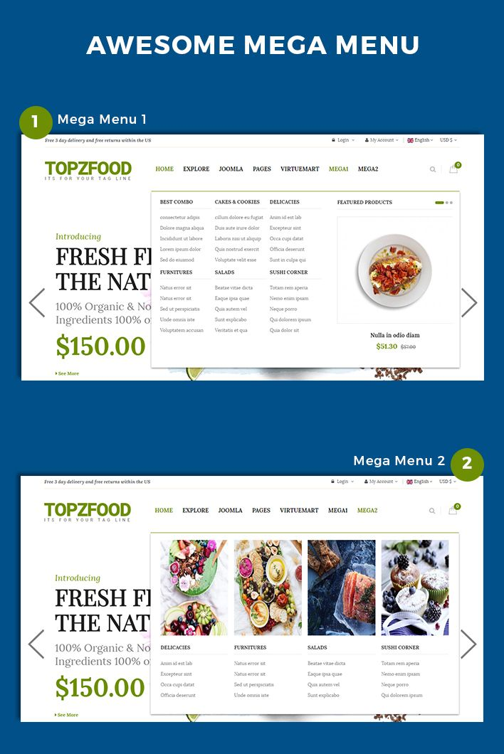 Free joomla ecommerce website templates free virtuemart templates.