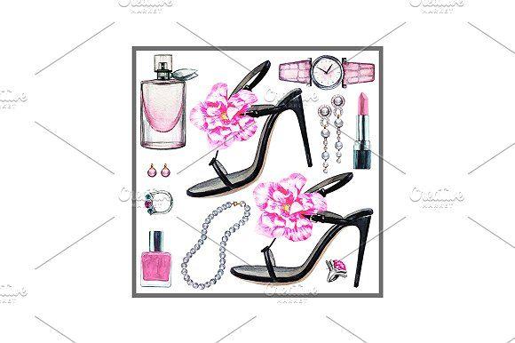 Three sets fashion women accessories by Svetlana Kazakova on @creativemarket