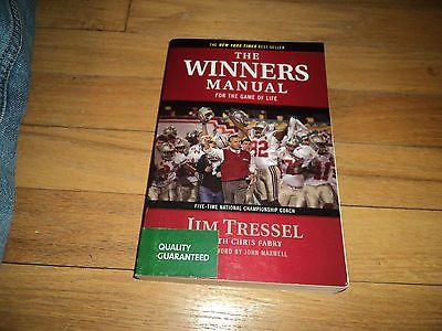 The Winners Manual Jim Tressel Ohio State Buckeyes Coach Youngstown State NCAA