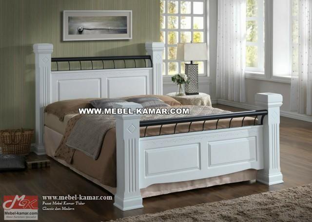 Harga tempat tidur minimalis desain modern dengan perpaduan warna putih , pusat produksi Tempat tidur modern , tempat tidur minimalis berkualitas harga murah