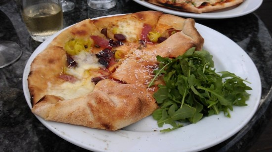 Calabrese vesuvio pizza at Sagra