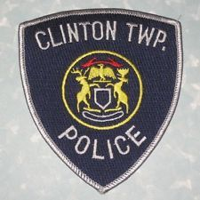 "Clinton Township Police Patch - Michigan - 4"" x 4 1/2"""
