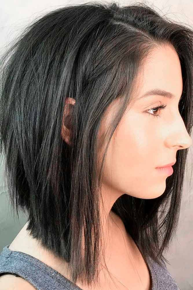 77 Ideas Of Inverted Bob Hairstyles To Refresh Your Style In 2020 Bob Hairstyles For Thick Bob Hairstyles Brunette Angled Bob Hairstyles
