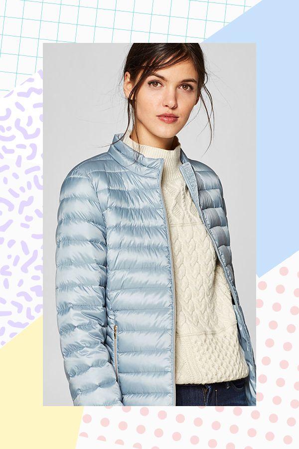 with blue down lightweight jacket ESPRIT gold pastel g7vfy6Yb