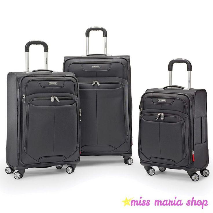 Samsonite Spinner Wheels 3 Pc Luggage Oversized Expandable Suitcase Trolley Set