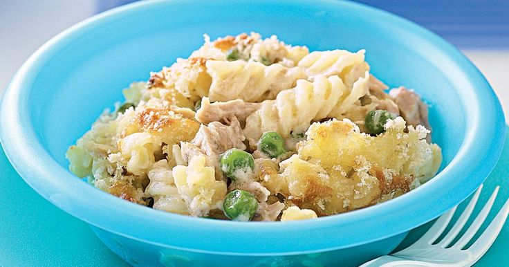 This quick pasta dish is laced with creamy white sauce to please young and old alike.