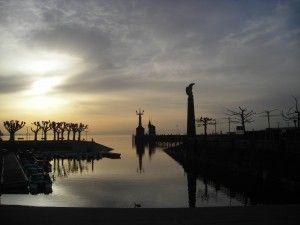 Die Imperia und das Zeppelin-Denkmal am Konstanzer Hafen