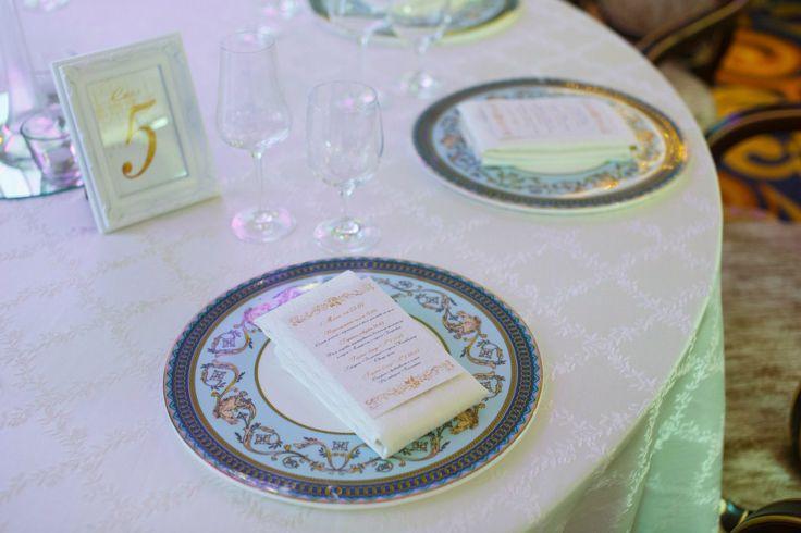 Свадебное меню на салфетках