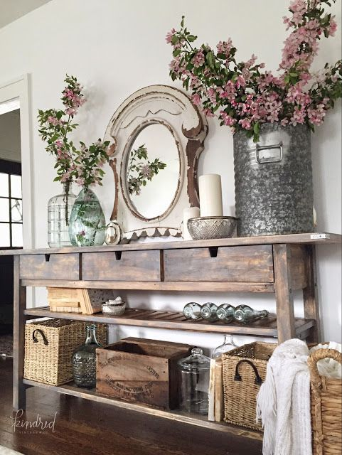 IKEA Norden Sideboard Makeover Modern FarmhouseFarmhouse DecorFarmhouse StyleFarmhouse Family RoomsFarmhouse